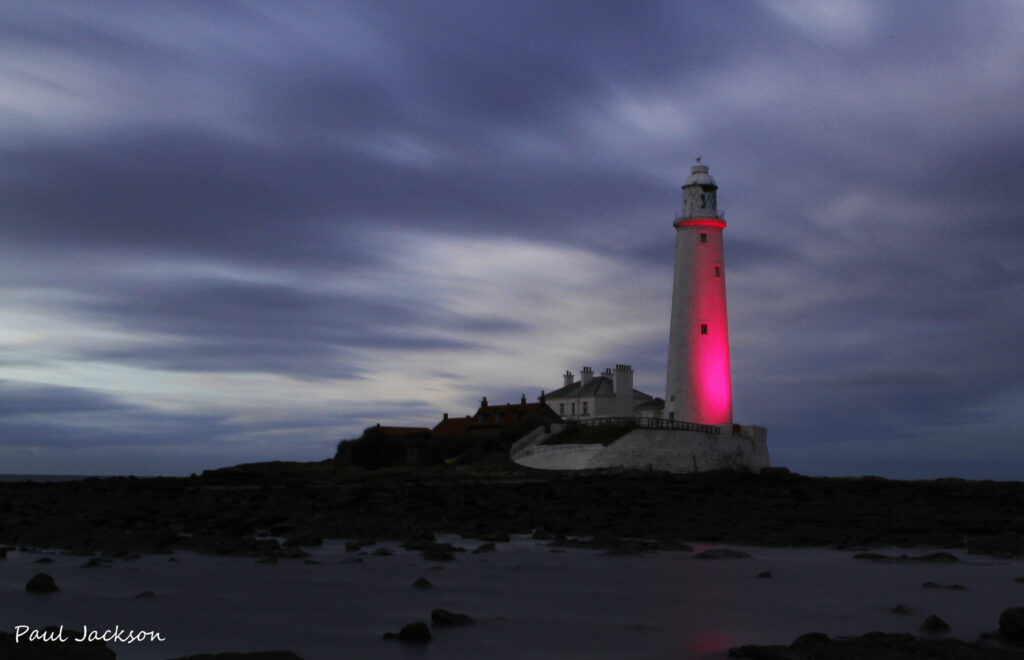 Pink St Mary´s Lighthouse
